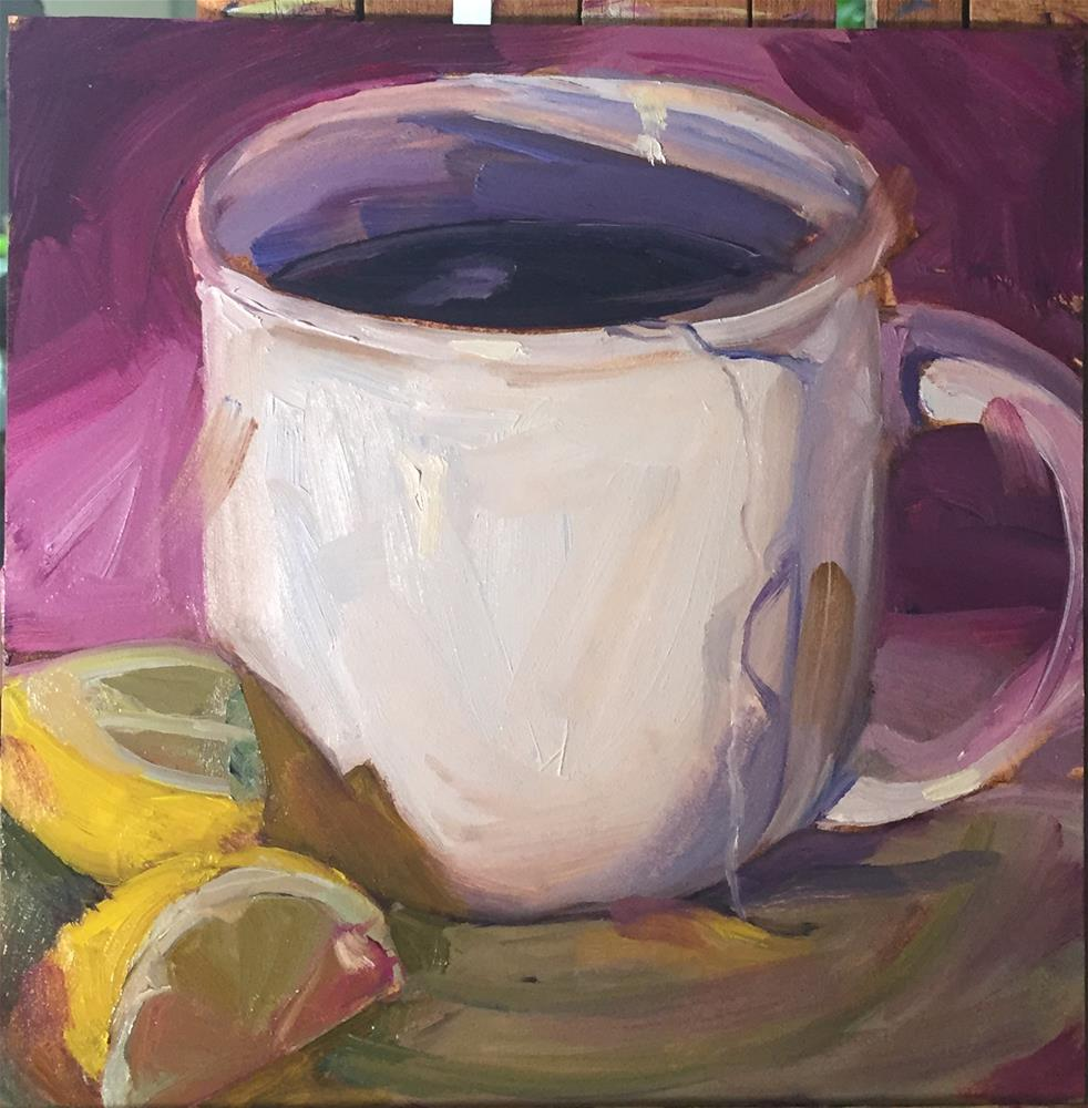"""Cup of Tea"" original fine art by Donna Raven"