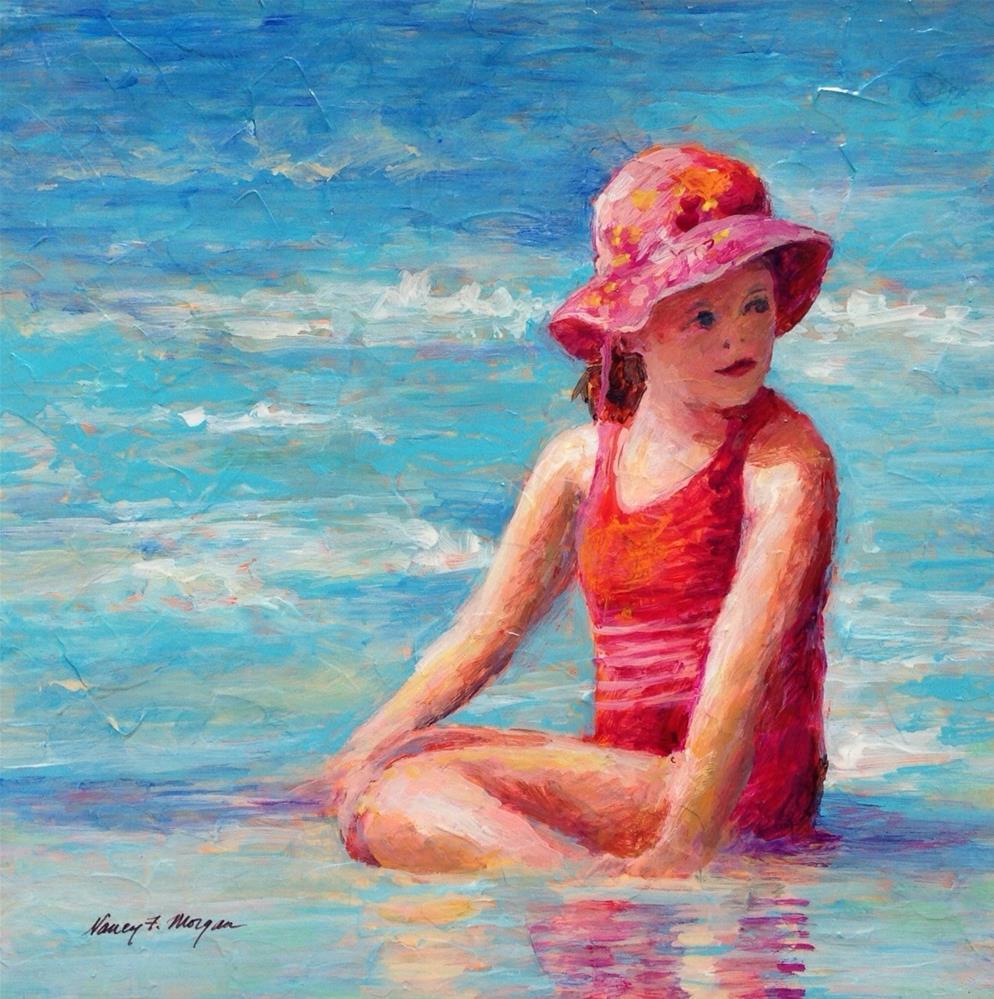 """""""Sitting Pretty"""" original fine art by Nancy F. Morgan"""