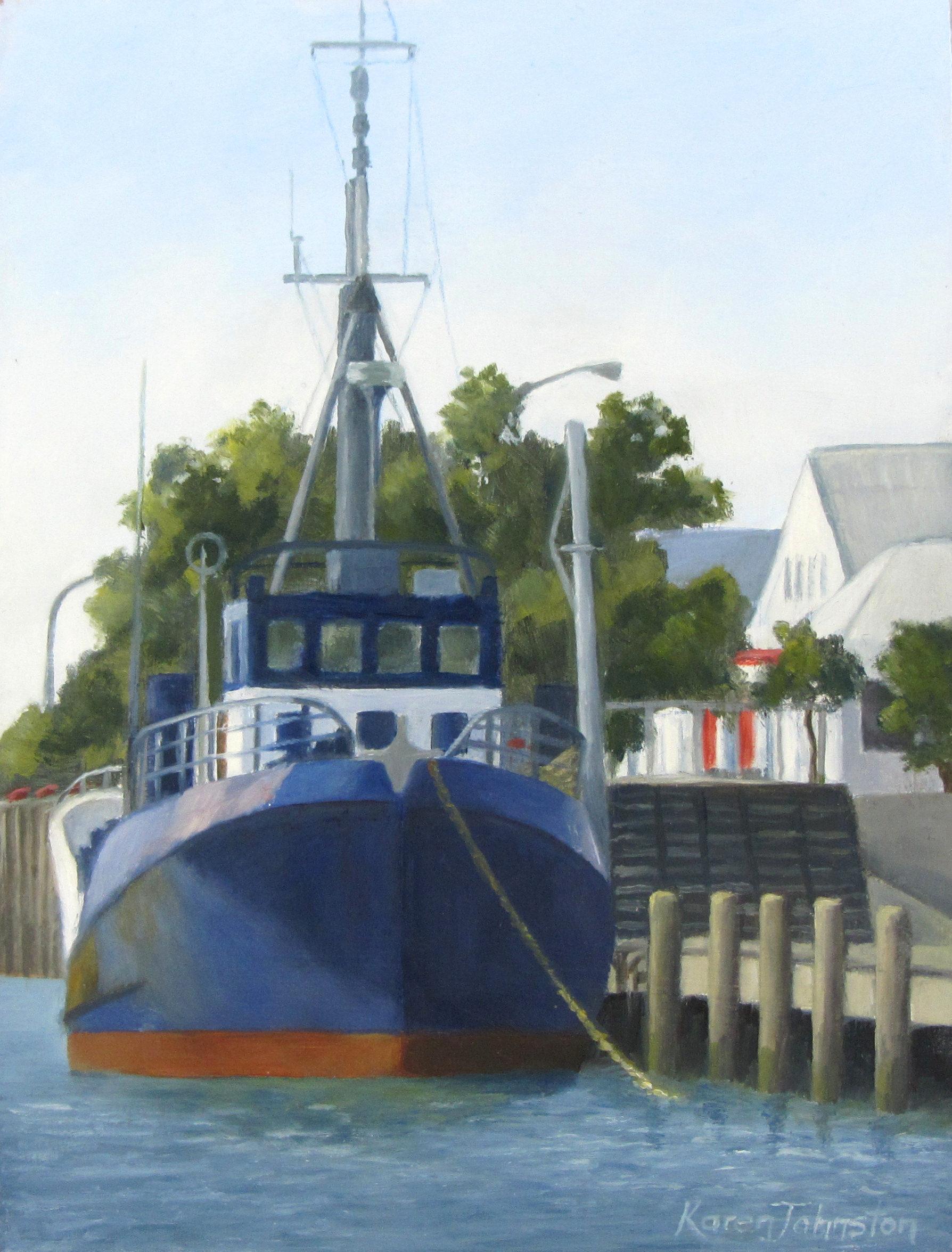 """""""In Port for the Day"""" original fine art by Karen Johnston"""