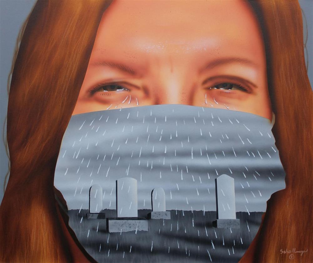 """Tears & Rain"" original fine art by Fred Schollmeyer"