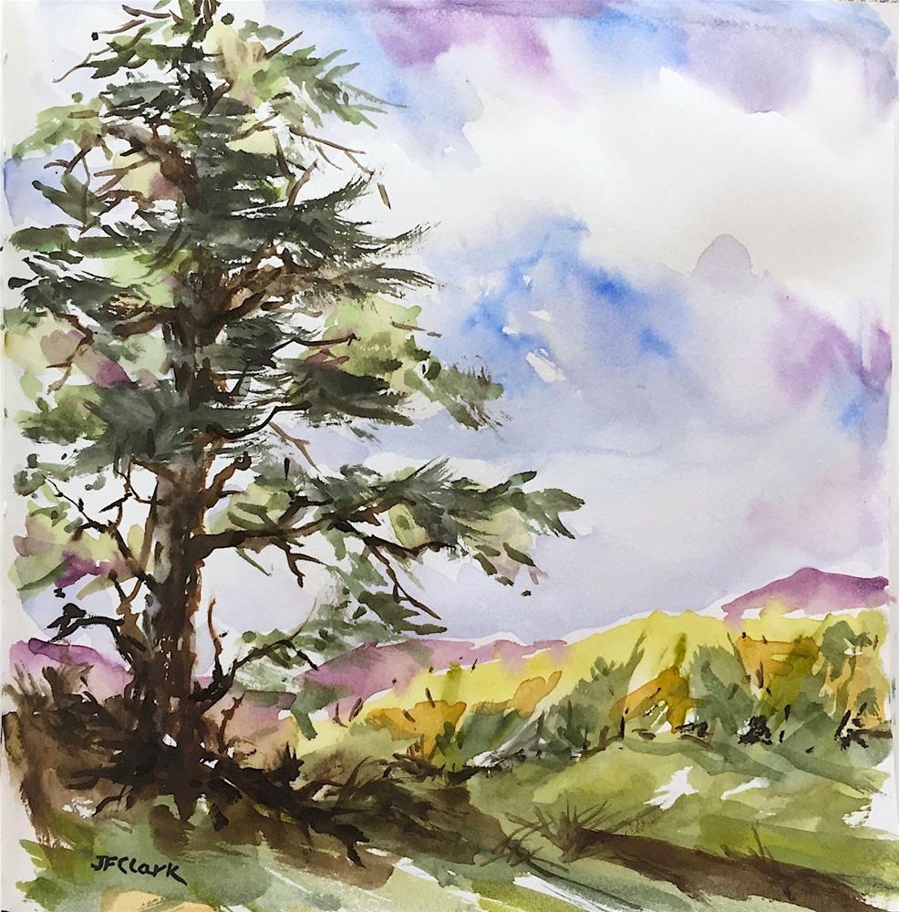 """Lone Pine, study"" original fine art by Judith Freeman Clark"