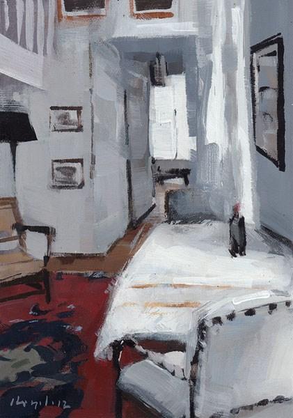 """White Flat - Quick Study"" original fine art by David Lloyd"