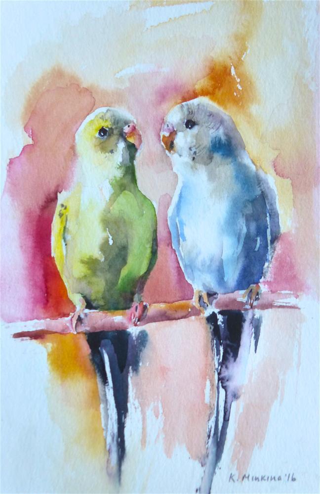 """budgie18"" original fine art by Katya Minkina"