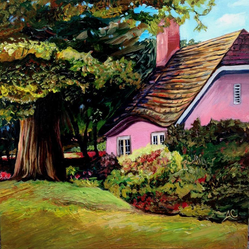 """""""The Pink Cottage"""" original fine art by Anna Castelli"""