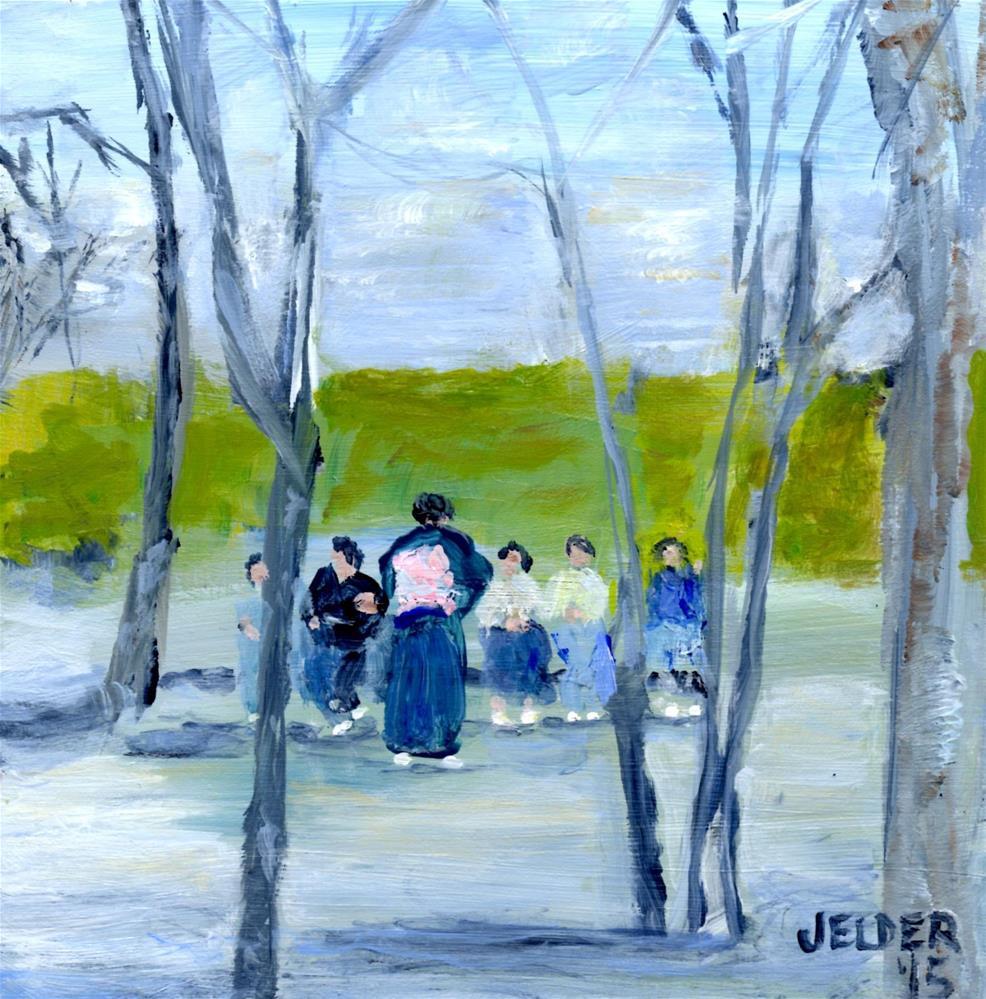 """At the Park"" original fine art by Judith Elder"