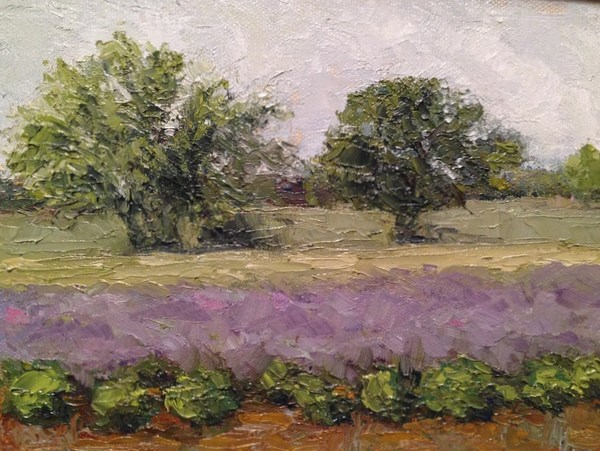 """Lavender Field"" original fine art by Lori L. Lamb"