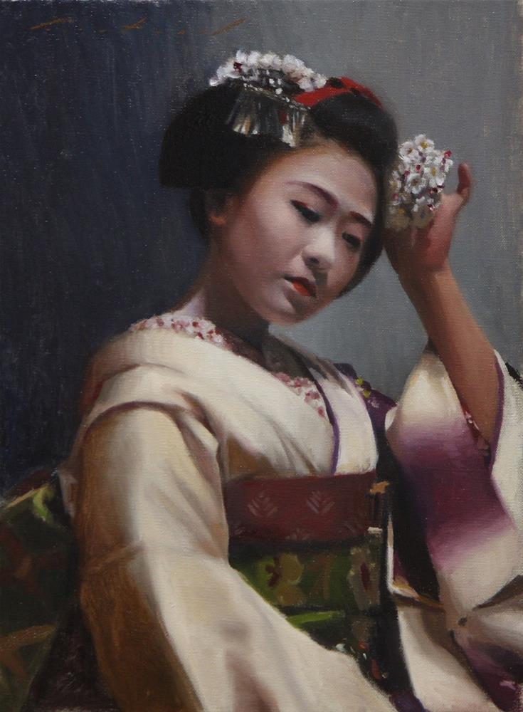 """Kanzashi"" original fine art by Phil Couture"