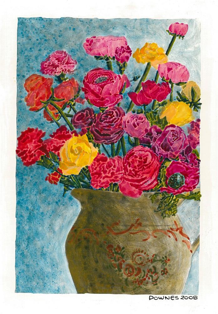 """208 CLASSIC FLOWERS 10"" original fine art by Trevor Downes"