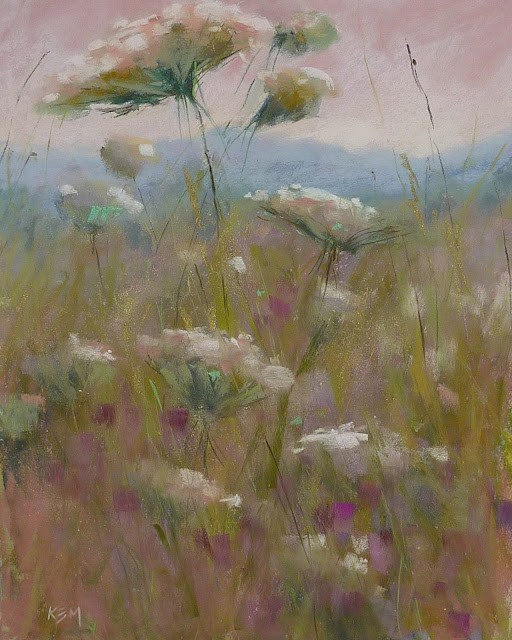 """The Accidental Wildflower Series"" original fine art by Karen Margulis"