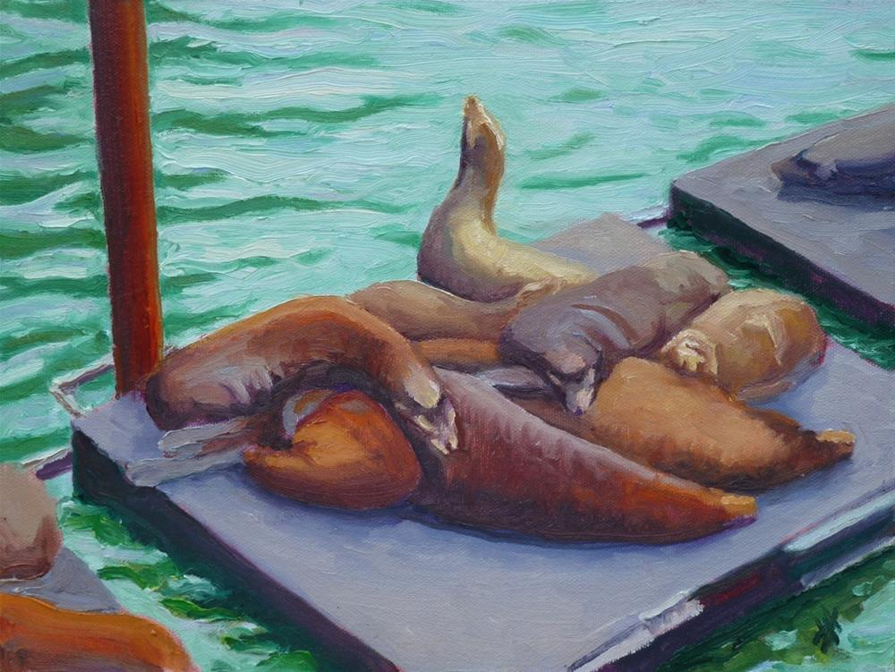 """Sea Lions"" original fine art by Mark Allison"