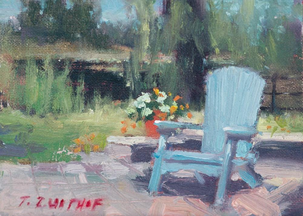 """Blue Adirondack"" original fine art by Todd Zuithof"