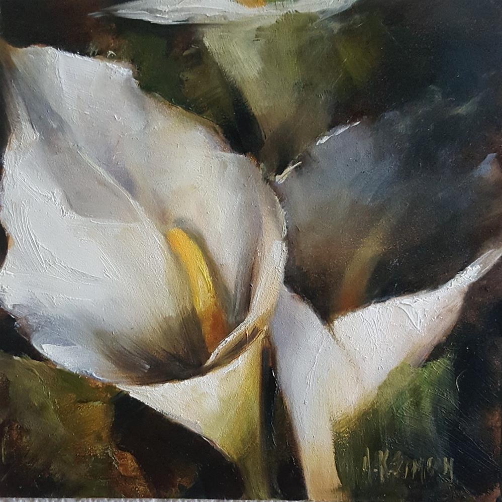 """""""Calla Lilly in the Spotlight"""" original fine art by A.K. Simon"""