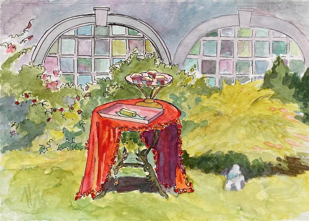 """Pam's Muffins"" original fine art by Mary Sheehan Winn"