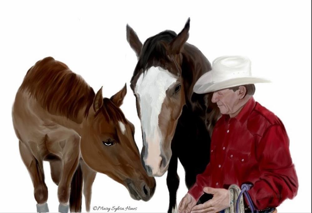 """The Bonds Of Friendship"" original fine art by Mary Sylvia Hines"