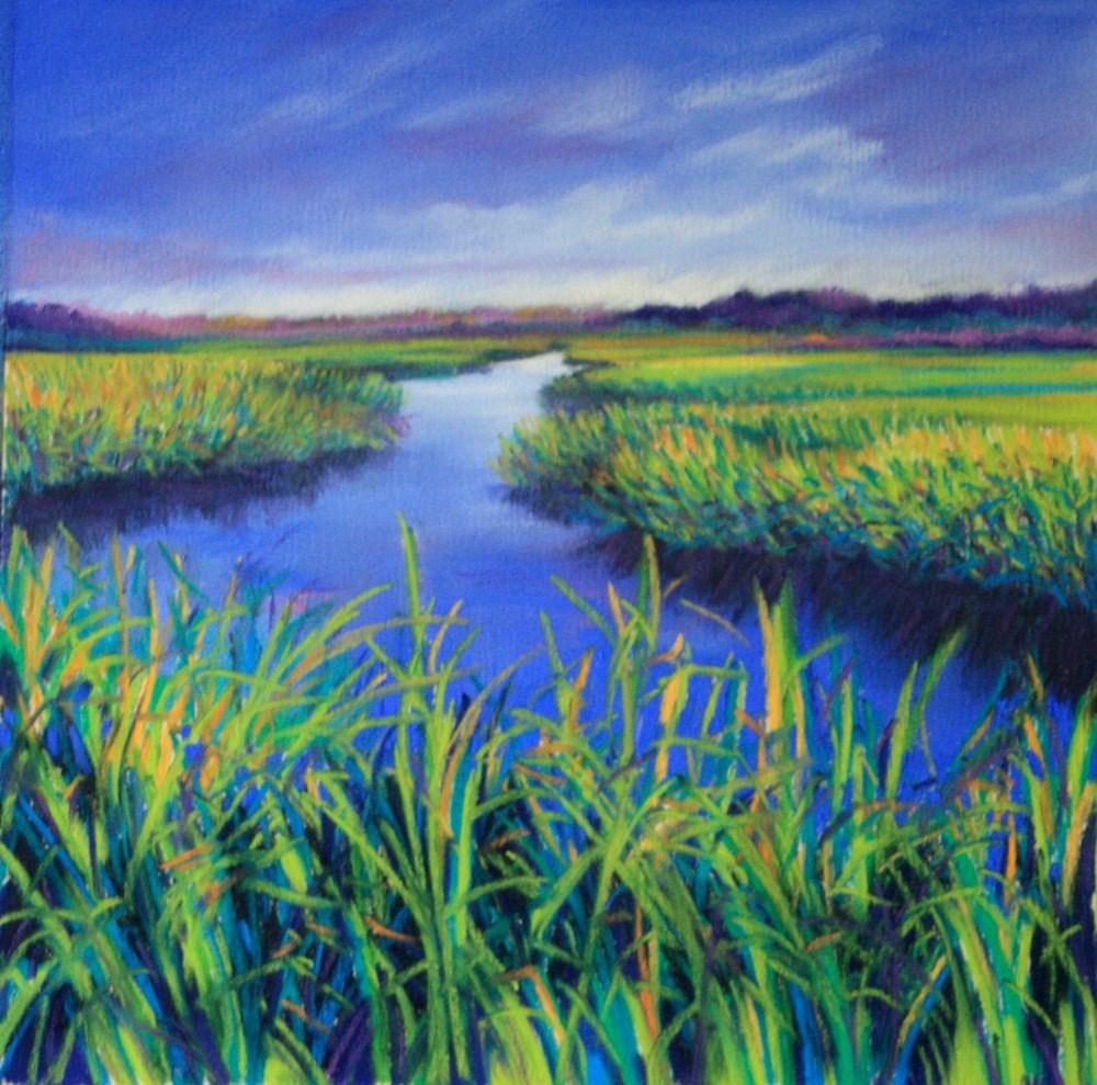 """Passing Rain"" original fine art by Jill Bates"