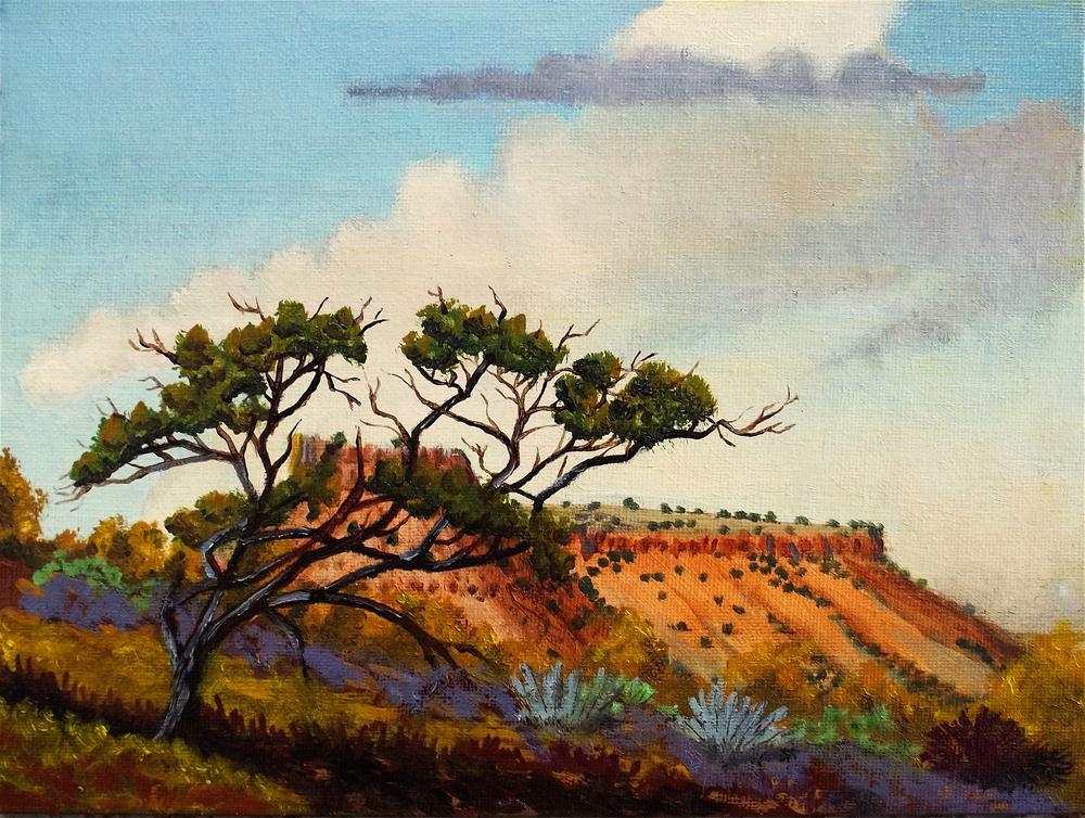 """Juniper Tree"" original fine art by William W. Hoyt"