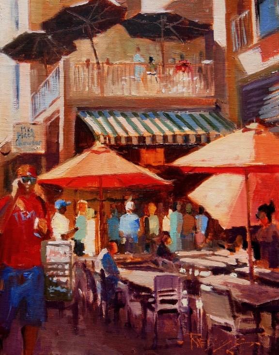 """Pike Place Chowder  plein air, Seattle cityscape by Robin Weiss"" original fine art by Robin Weiss"