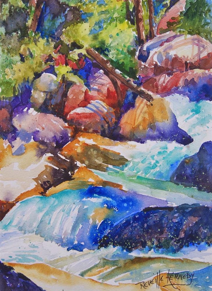 """Rocky Mountains Beautiful Layers"" original fine art by Reveille Kennedy"