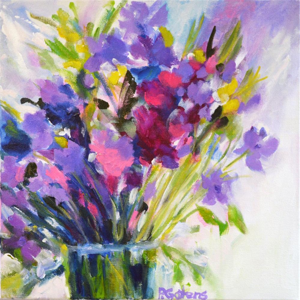 """Little Lavender Bouquet"" original fine art by Pamela Gatens"