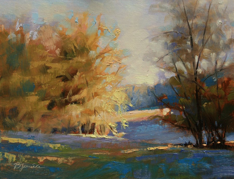 """Draped in Sunlight"" original fine art by Barbara Jaenicke"