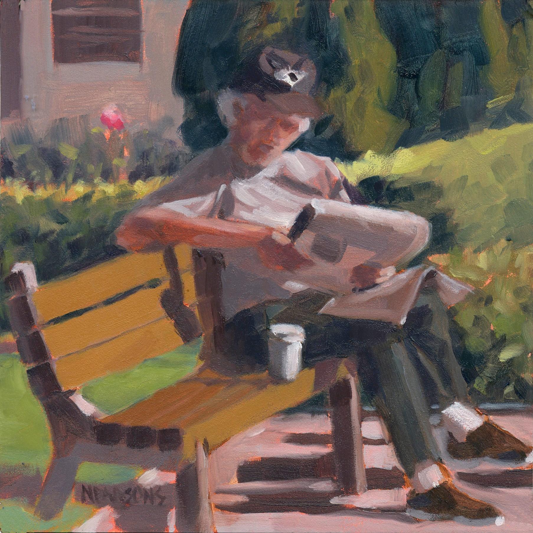 """Morning Glory"" original fine art by Nancy Parsons"