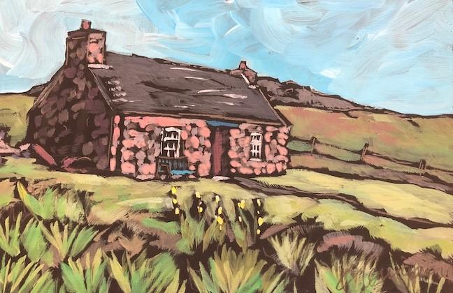 """Cottage on Iona, Scotland"" original fine art by Kat Corrigan"