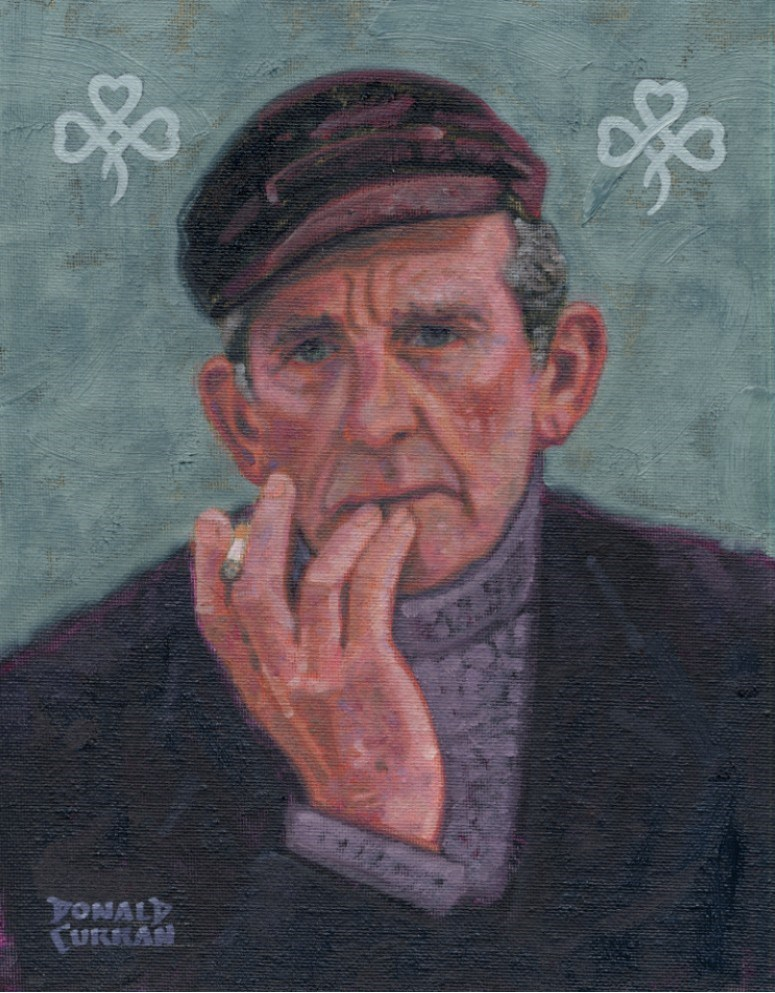 """Irish Farmer"" original fine art by Donald Curran"