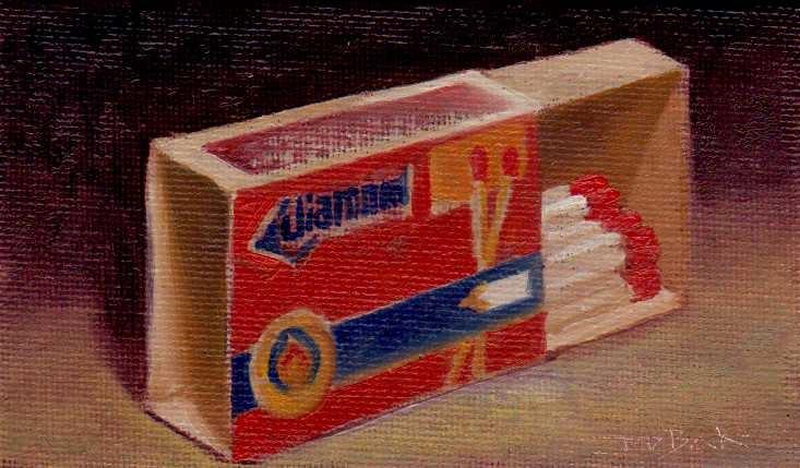 """""""matchbox"""" original fine art by Mark DeBak"""