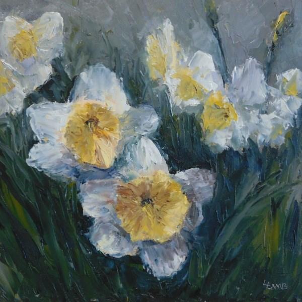 """""""Daffodil Dreams"""" original fine art by Lori L. Lamb"""