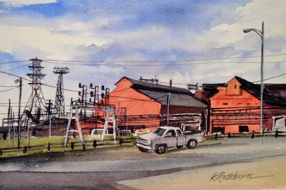 """Steel Mills"" original fine art by Kathy Los-Rathburn"