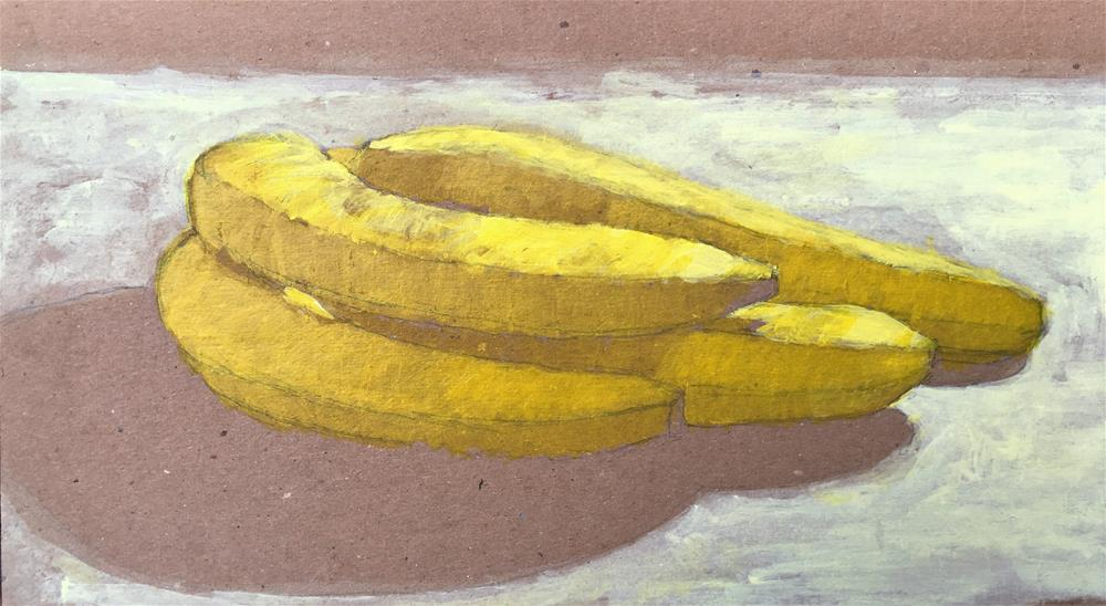 """Napping Bananas"" original fine art by Tracy Wise"