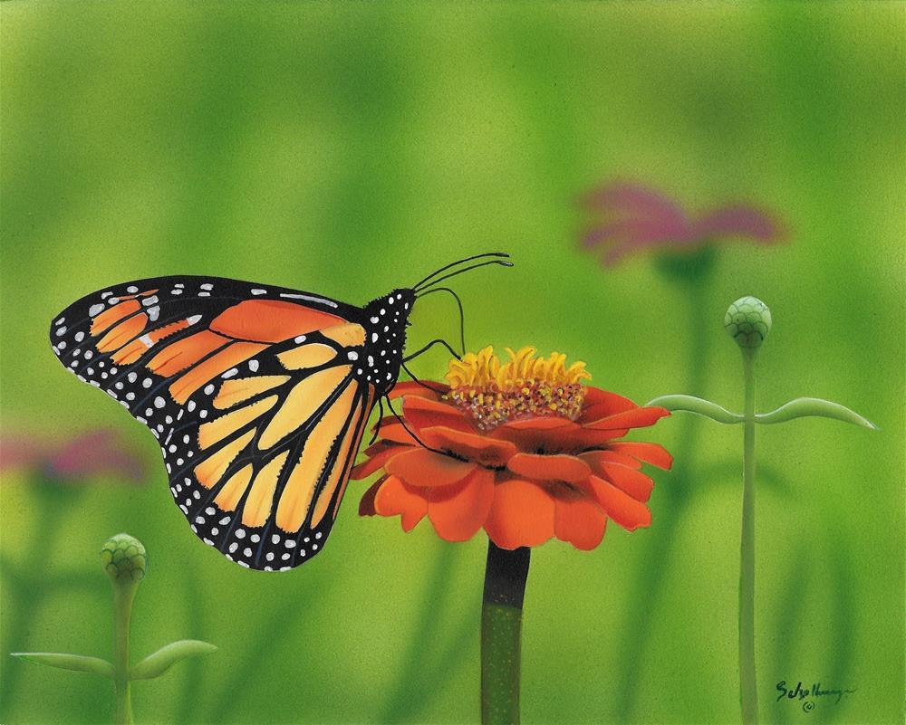 """""""Afternoon in the Garden"""" original fine art by Fred Schollmeyer"""