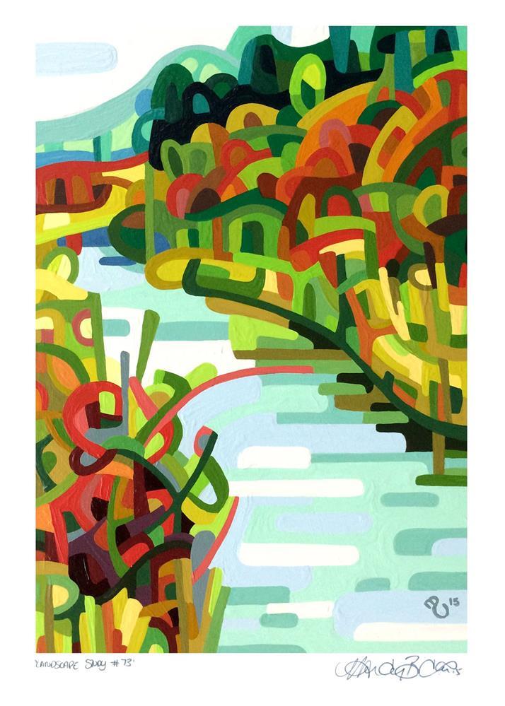 """Landscape Study #73"" original fine art by Mandy Budan"