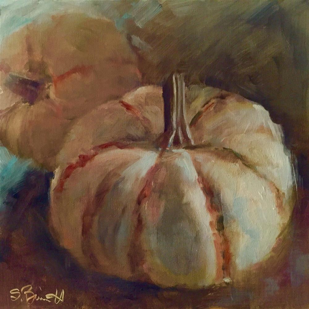 """""""Sweet Lightening Winter Squash"""" original fine art by Sherri Burritt"""