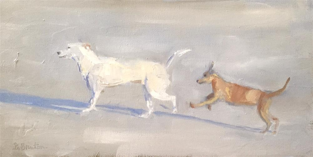 """Pups on a Beach"" original fine art by Gary Bruton"