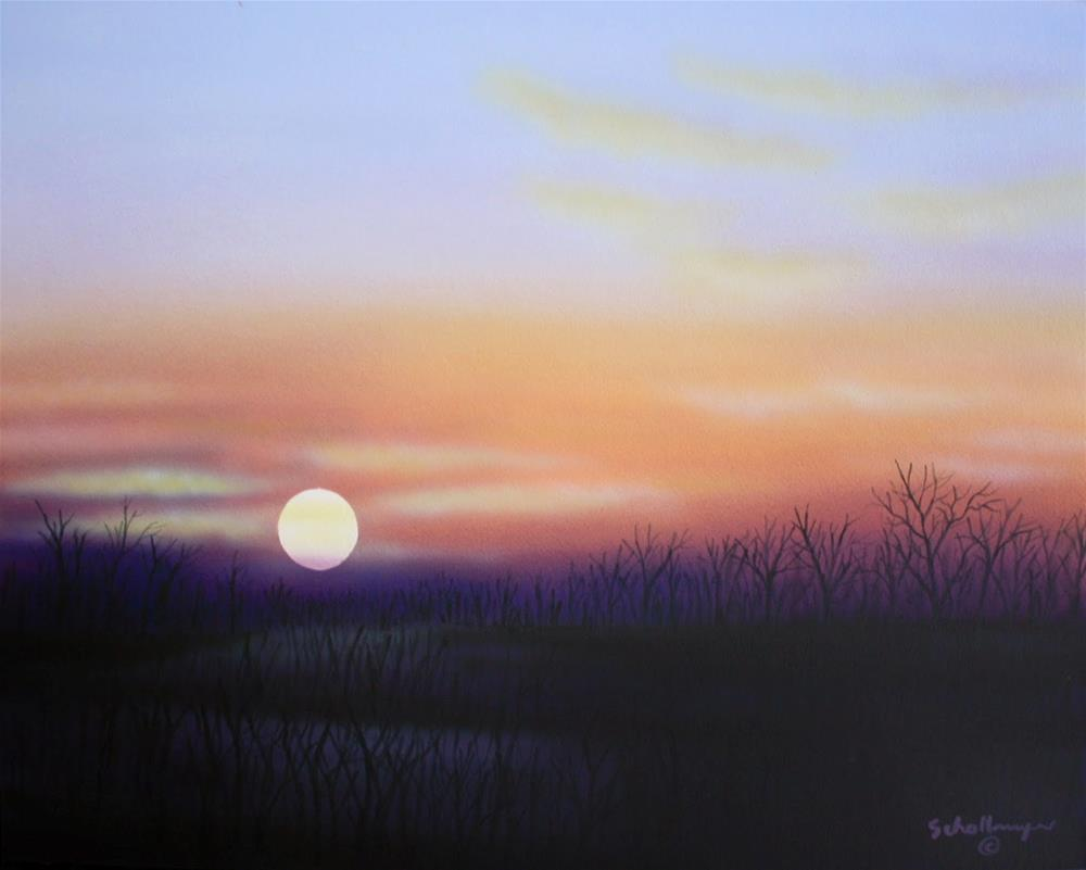 """""""Sunset (Late January)"""" original fine art by Fred Schollmeyer"""