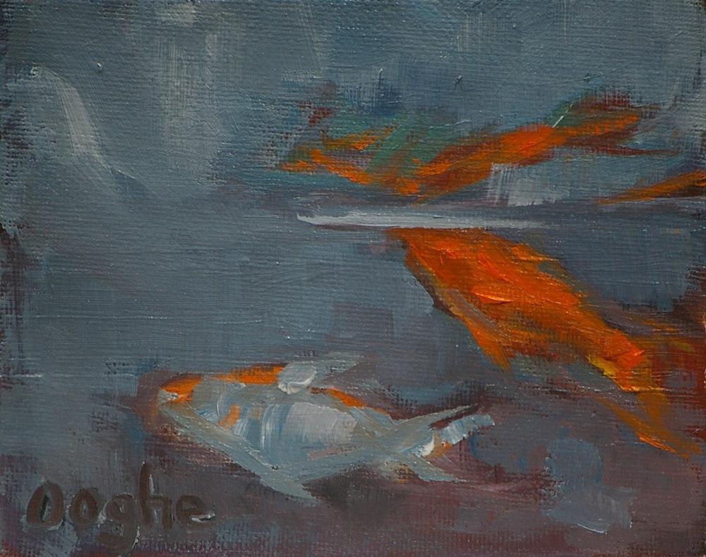 """Goldfish 3"" original fine art by Angela Ooghe"