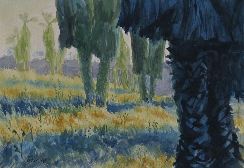 """Palm Grove"" original fine art by David J. Teter"