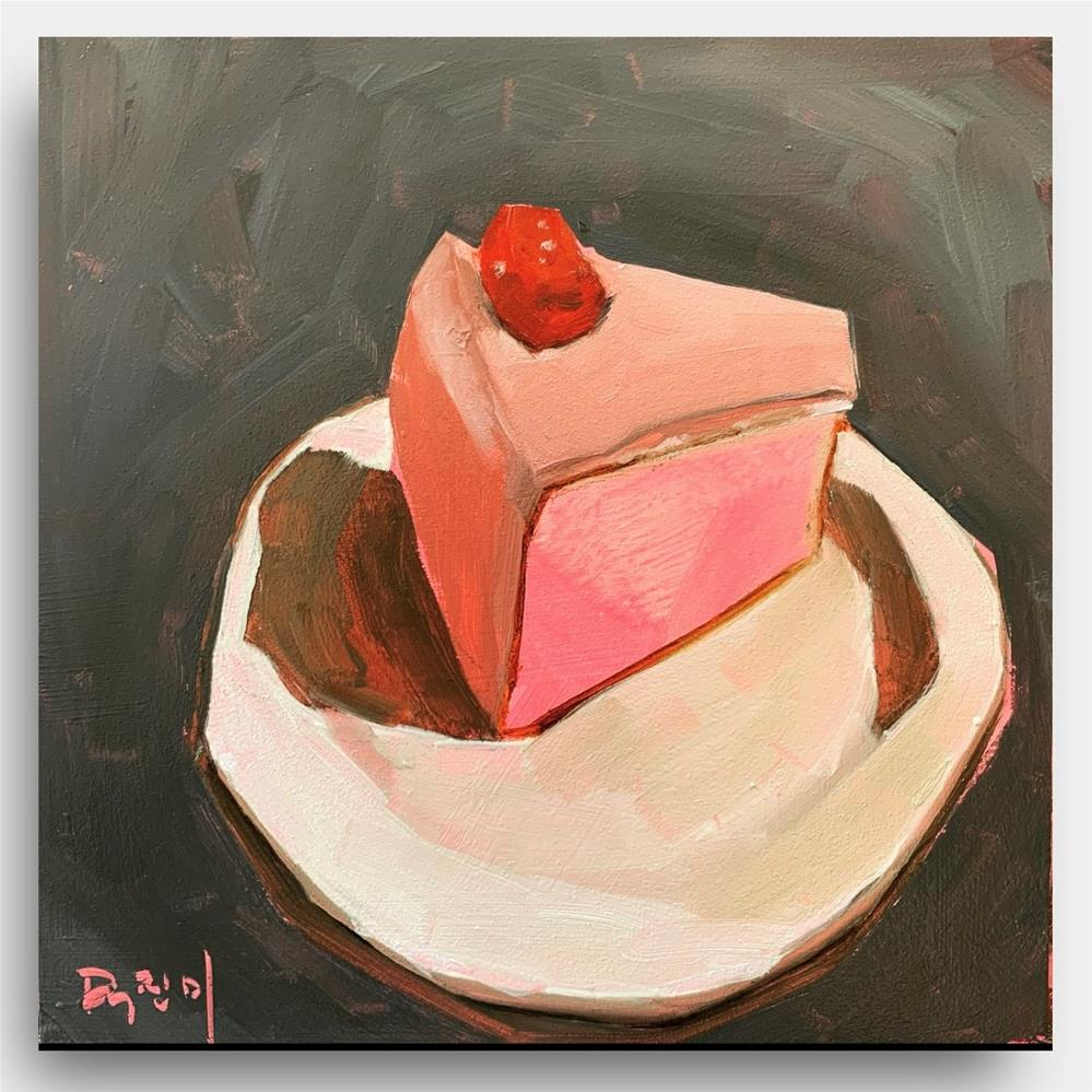 """838 Raspberry Slice"" original fine art by Jenny Doh"