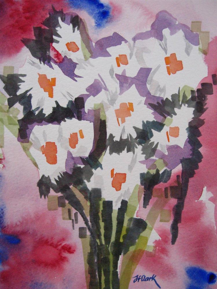 """""""Marguerites"""" original fine art by Judith Freeman Clark"""