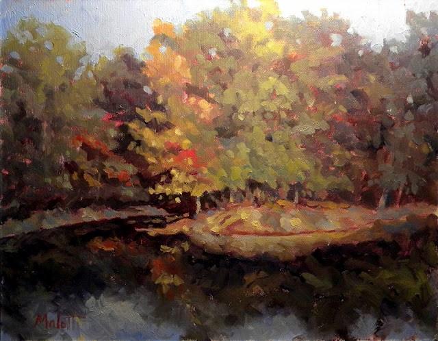 """Autumn Island"" original fine art by Heidi Malott"