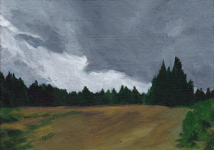 """""""Dark Clouds"""" original fine art by J M Needham"""