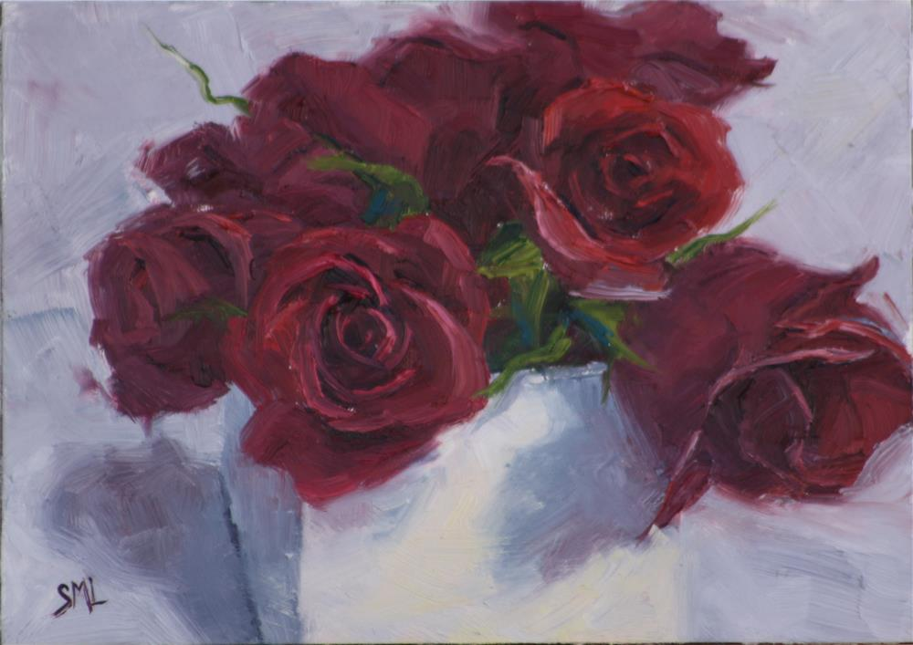 """Rosy Celebration"" original fine art by Sheila Marie"