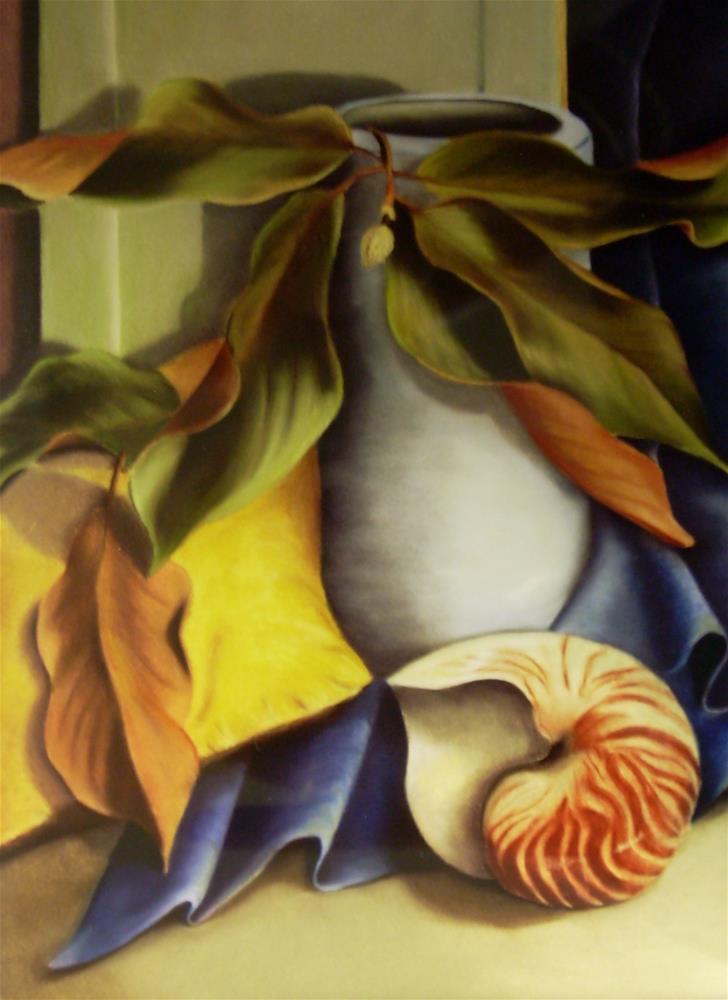 """Nautilus"" original fine art by Karen Collins"
