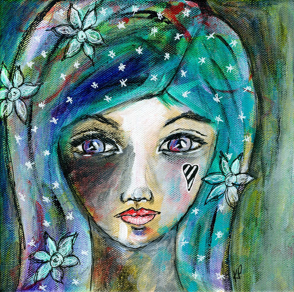 """A Flower Child"" original fine art by Kali Parsons"