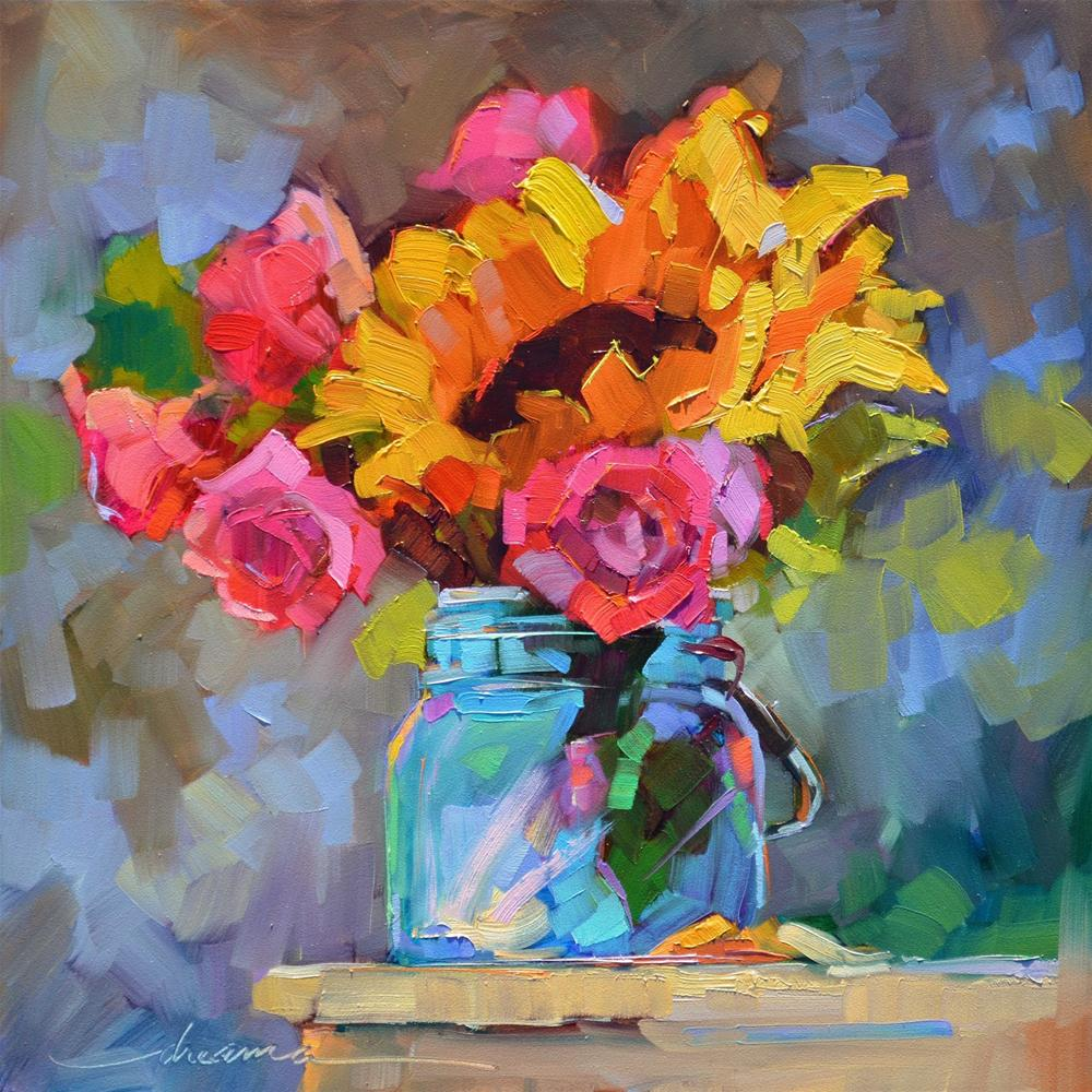 """A Jar of Sunshine"" original fine art by Dreama Tolle Perry"