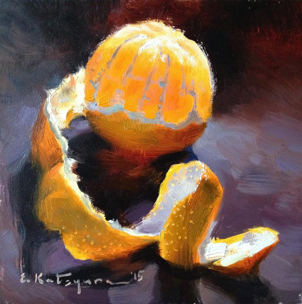 """""""Wednesday Citrus"""" original fine art by Elena Katsyura"""