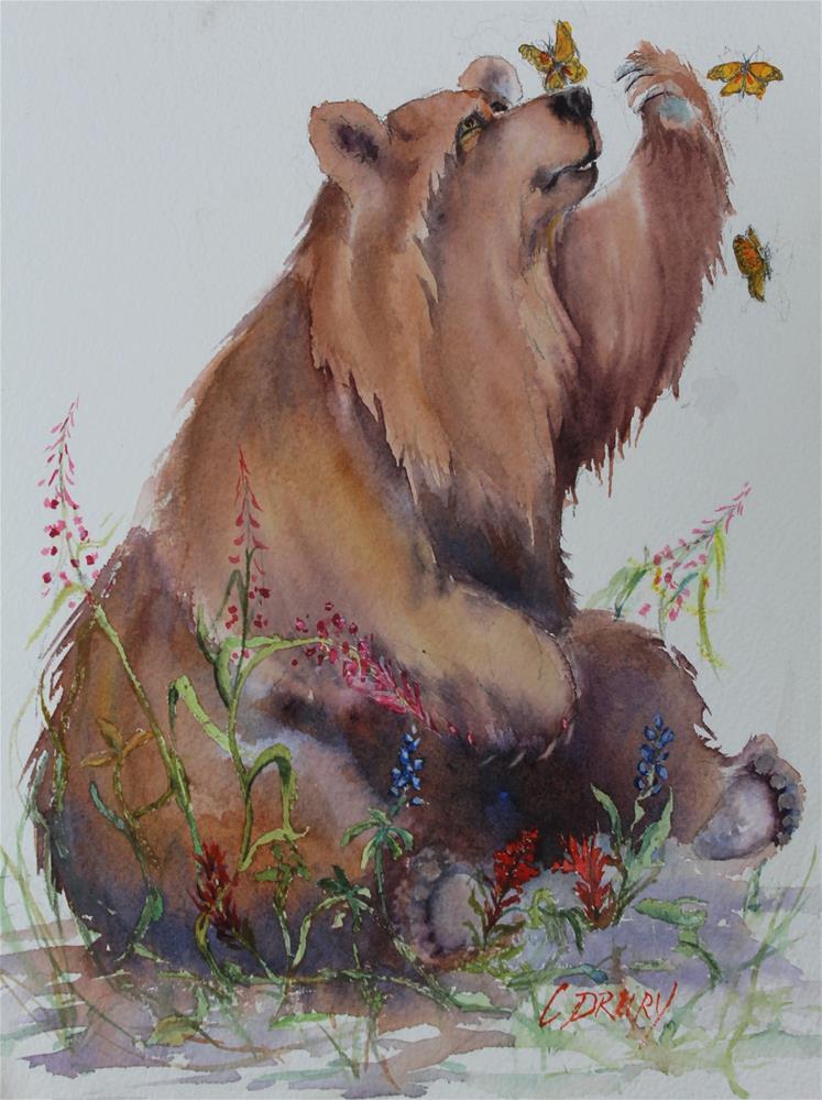 """Bears, Butterflies and Blossoms"" original fine art by Colleen Drury"