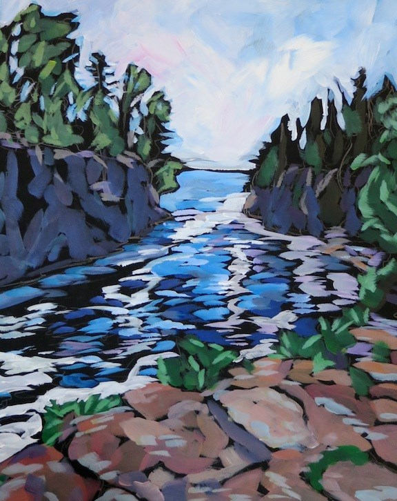 """cascade falls"" original fine art by Kat Corrigan"