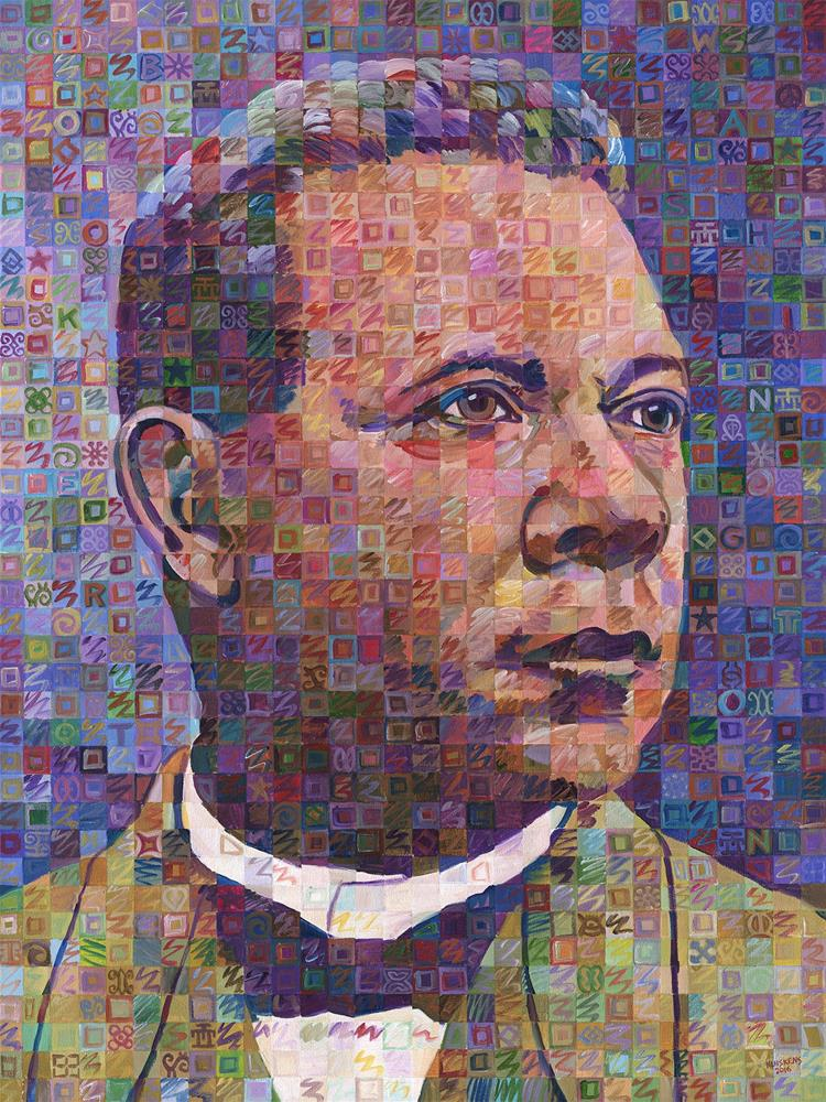 """Voices OF Freedom – Booker T. Washington"" original fine art by Randal Huiskens"